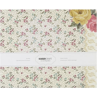 Kaisercraft Needle & Thread D-Ring Album, 12in. x 12in.