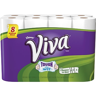 Viva Choose-A-Size Paper Towels, 8 Rolls/Pack