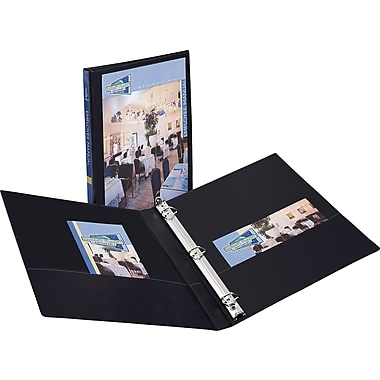1/2in. Avery® Durable View Binder with Slant-D Rings, Black