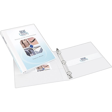 1/2in. Avery® Durable View Binder with Slant-D Rings, White