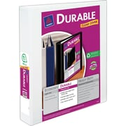 "Avery® 1-1/2"" Durable View Binder with Slant-D Rings, White (17009/17022)"