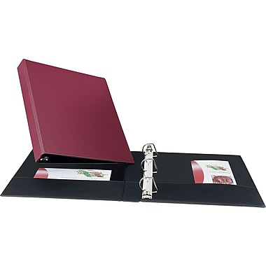 Avery Durable 1-Inch Slant D 3-Ring Binder, Burgundy (27252)