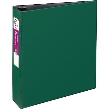 Avery Durable 2-Inch Slant D 3-Ring Binder, Green (27553)