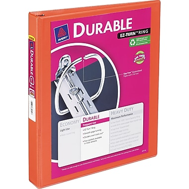 1in. Avery® Durable View Binder with Slant-D Rings, Bright Orange