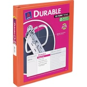 Avery Durable 1-Inch D-Ring View Binder, Bright Orange (34151)