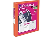 1' Avery® Durable View Binder with Slant-D Rings, Bright Orange