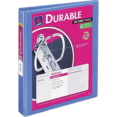 1in. Avery® Durable View Binder with Slant-D Rings, Periwinkle