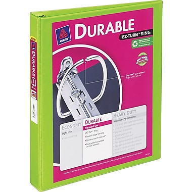 1in. Avery® Durable View Binder with Slant-D Rings, Bright Green