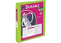1' Avery® Durable View Binder with Slant-D Rings, Bright Green