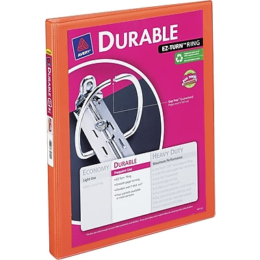 1/2in. Avery® Bright-Orange Durable View Binder with Slant-D Rings