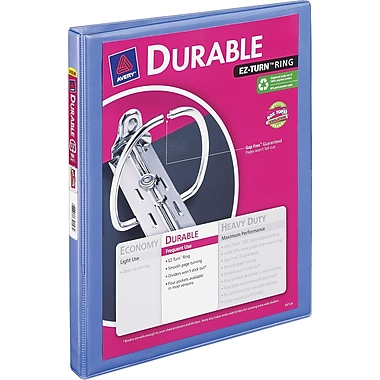 1/2in. Avery® Periwinkle Durable View Binder with Slant-D Rings