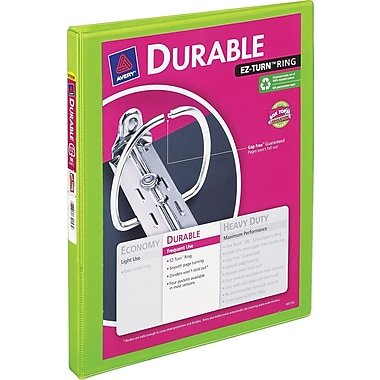 1/2in. Avery® Bright-Green Durable View Binder with Slant-D Rings
