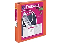 1-1/2' Avery® Durable View Binder with Slant-D Rings, Bright Orange