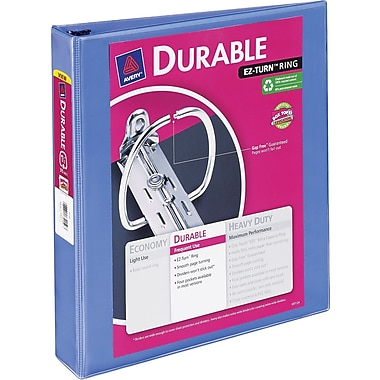 Avery Durable 1.5-Inch Slant D 3-Ring View Binder, Periwinkle (34159)