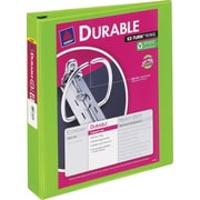 1-1/2 Avery® Durable View Binder with Slant-D Rings, Bright Green