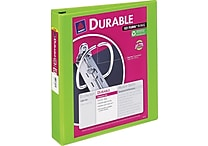 1-1/2' Avery® Durable View Binder with Slant-D Rings, Bright Green