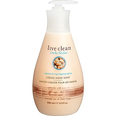 Live Clean™ – Savon liquide pour la peau regénérateur avec huile d'argan, parfum de nectar exotique, 500 ml