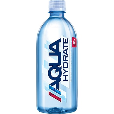 Aquahydrate Electrolyte Enhanced Bottled Water, 500mL Bottles, 24 Bottles/Case