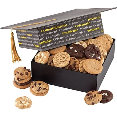 Mrs. Fields® Graduation Cap Box, 36 Nibblers®