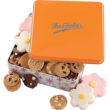 Mrs. Fields Daisy Tin, 24 Nibblers and Cookies