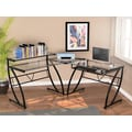 Z-Line Designs Belaire Glass in.Lin. Desk, Black Clear