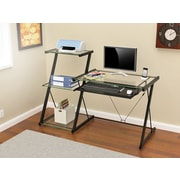 Z-Line Designs Nero 3 Shelves Metal Computer Desk, Black