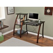 Z-Line Designs Triana Wood/Metal Desk and Bookcase, Cherry