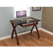Z-Line Designs Florentina Real Wood Veneer Computer Desk, Cherry