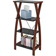 Z-Line Designs Florentina 4 Shelves Wood Bookcase, Cherry