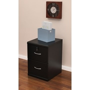 Z-Line Designs 2-Drawer Wood Vertical File Cabinet, Black, Letter/Legal (ZL2253-2BVU)