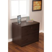 "Z-Line Designs 28 1/4"" Lateral File Cabinet, 2-Drawer, Espresso"