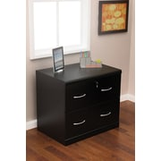 Z-Line Designs 28 1/4 Wood Lateral File Cabinet, 2-Drawer, Black