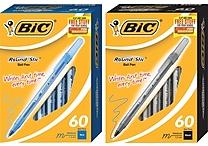 BIC® Round Stic® Ballpoint Pens, Medium Point, 60/Box