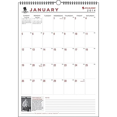 2014 AT-A-GLANCE® Wounded Warrior Project® Wall Calendar, 12in. x 17in.