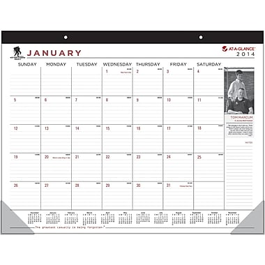 2014 AT-A-GLANCE® Wounded Warrior Project® Desk Pad, 22in. x 17in.
