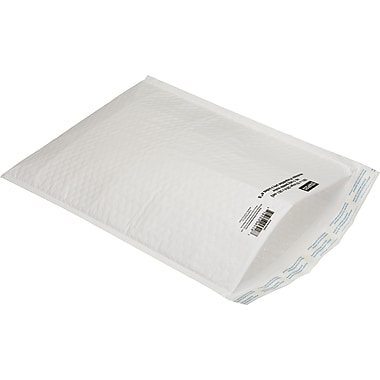 Jiffylite White Bubble Mailers, 5in. x 10in.
