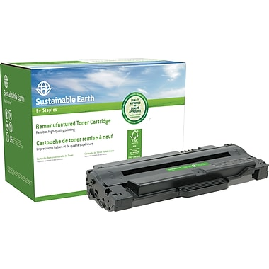 Sustainable Earth by Staples™ Remanufactured Black Toner Cartridge, Samsung MLT-D105L, High Yield