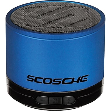 Scosche boomSTREAM mini Bluetooth Portable Speaker, Blue