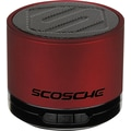 Scosche boomSTREAM mini Bluetooth Portable Speaker, Red