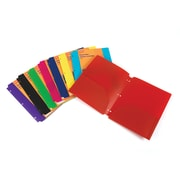 Staples® 2-Pocket Poly Folder for Binder, Assorted Colors