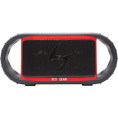 Grace Digital ECOXGREAR - ECOXBT Waterproof and Rugged Bluetooth Speaker and Speakerphone, Red