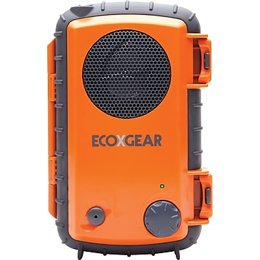 Grace Digital ECOXGEAR - ECOXPRO Waterproof and Rugged Floating Speaker Case, Orange