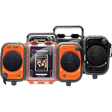 Grace Digital Eco Terra Rugged Waterproof Audio Case/Boombox for iPhone and MP3 Players