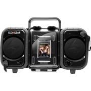 Grace Digital Eco Terra Rugged Waterproof Audio Case/Boombox for iPhone and MP3 Player, Black