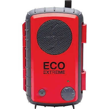 Grace Digital Eco Extreme Rugged All-Terrain Waterproof Speaker Case for MP3 Players and Smartphones, Red