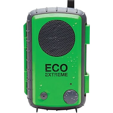 Grace Digital Eco Extreme Rugged All-Terrain Waterproof Speaker Case for MP3 Players and Smartphones, Green