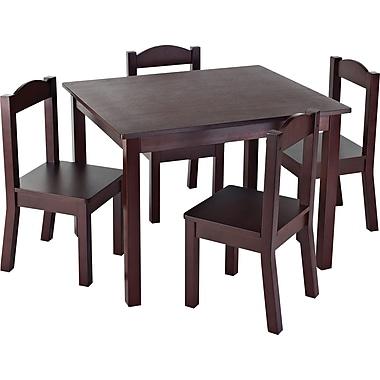 Tot TutorsMD – Table pour enfants avec 4 chaises, espresso
