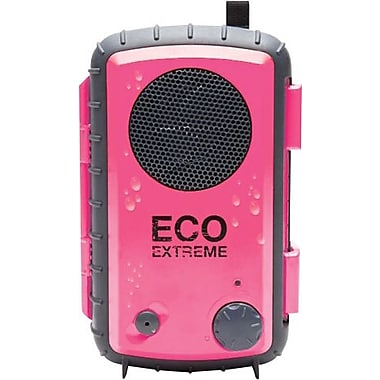 Grace Digital Eco Extreme Rugged All-Terrain Waterproof Speaker Case for MP3 Players and Smartphones, Pink