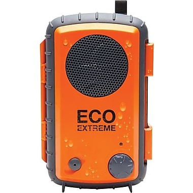 Grace Digital Eco Extreme Rugged All-Terrain Waterproof Speaker Case for MP3 Players and Smartphones, Orange