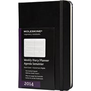 Moleskine 2014 Weekly Planner, Horizontal, 12M, Pocket, Black, Hard Cover, 3-1/2 x 5-1/2